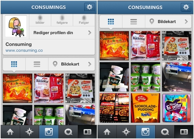 Consuming på Instagram