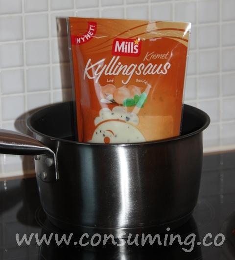 saus i oppvarmingskjele