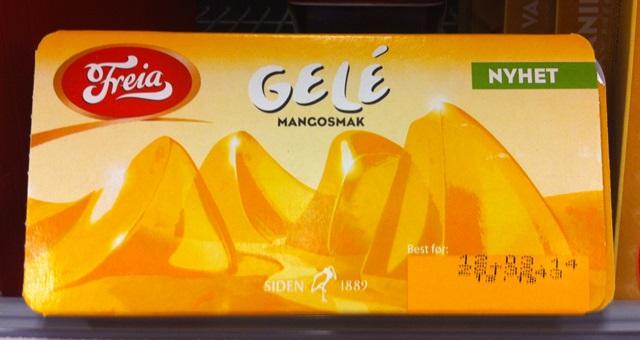 Gele i porsjonsbeger Mango