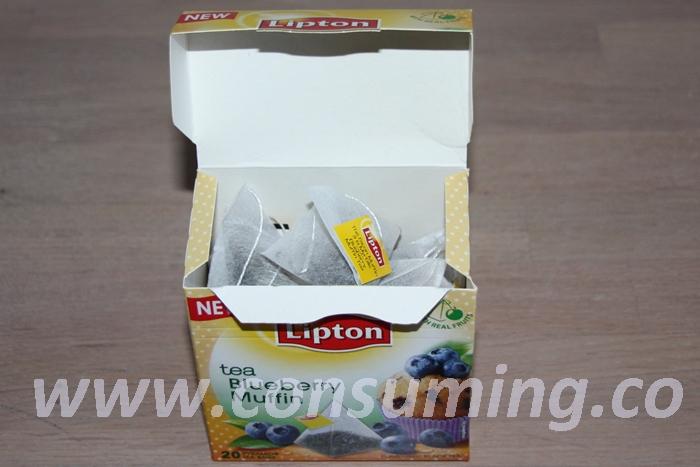 Blueberry Muffin fra Lipton åpen boks