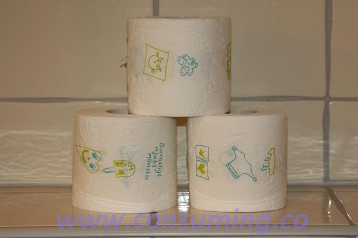 Lambi dopapir med barnemønster