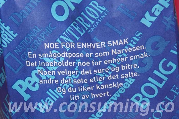 Smågodtpose fra Narvesen
