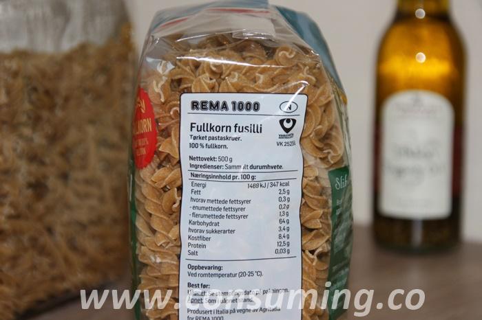 Pasta fra Rema1000 fra siden